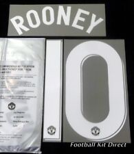 Manchester United Rooney 10 Champions League Football Shirt Name Set 2012/13