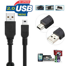 USB 2.0 A Male M to Mini B 5 Pin Male Cable Black 3ft