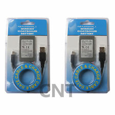 TWO (2) 1800mAh Battery For Sony PS3 PlayStation 3 For SIXAXIS with cable new