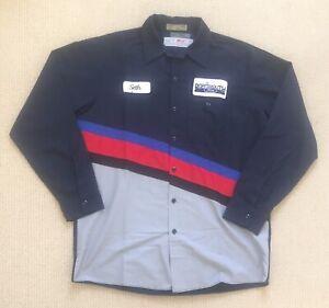 Red Kap Colour Block Work Shirt, Long Sleeve 'Ford & Seth' Large, VGC - Free P&P