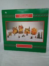 House of Lloyd Christmas Around the World Lighted Village Buildings Set in Box