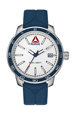Reebok Forge 1.0 Mens Stainless Steel & Blue Watch, Silicone RD-FOR-G3-S1IN-WR