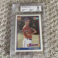 Topps 1991 Chipper Jones Atlanta Braves #333 RC BGS 8