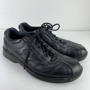 ECCO Light Shock Point Mens EU 46 US 12-12.5 Black Leather Casual Shoes Sneakers