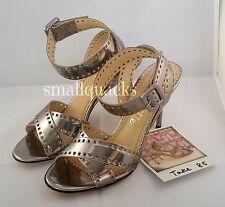 BNIB CHARLOTTE OLYMPIA Take 85 Metallic Silver Sandals Heels Aluminium Hollywood
