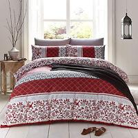 Catherine Lansfield Oriental Birds Floral Spice Duvet Quilt Cover Bedding Set