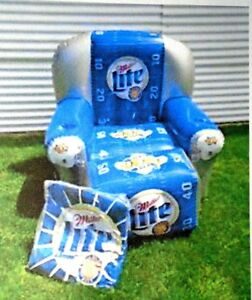 NEW NFL MILLER LITE BEER SUPER BOWL XXXV INFLATABLE CHAIR FOOTBALL MAN CAVE