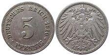 J 12   5 Pfennig Kaiserreich 1910 E in VZ  502887