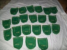 21 CROWN ROYAL BAGS 1 LITER APPLE GREEN  W/ DRAWSTRINGS GOLD EMBROIDERED