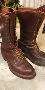 Mens Wesco Brown Lace Up Boots Size 10