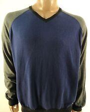 ARGYLE CULTURE NEW $68.00 MENS BLUE GRAY V-NECK SWEATER sz- XXL 2XL