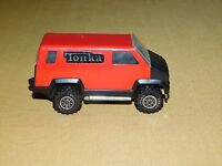 """VINTAGE OLD TOY  1978  3 3/4""""  LONG  METAL  TONKA RED ARMORED CAR TRUCK"""