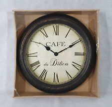 Large Wall Clock, Country Casa Collection, Cafe Des Delices, Brand New