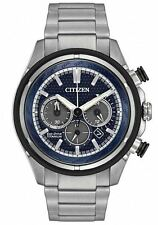 AUTHENTIC CITIZEN MEN'S TI+IP TITANIUM CHRONOGRAPH ECO-DRIVE WATCH CA4240-82L