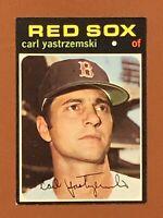 1971 Topps Carl Yastrzemski Card #530 EX - Red Sox HOF