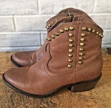 Mossimo Supply Co. Brown Studded Ankle Cowboy Fashion Boots Women's Size 7