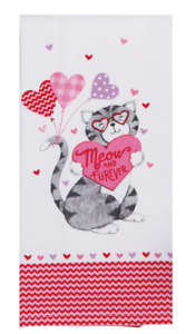 """YOU""""RE PURRFECT Cat Dual Purpose Kitchen Towel - Flat Weave Front, Terry Back"""