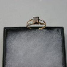 Diamond Yellow Gold Emerald Fine Rings