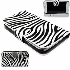 Folding Zebra Lines Stand Leather Pouch Cover Case For Samsung Galaxy S3 i9300