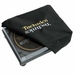 Technics Turntable Cover - Protect Your Deck (gold + silver embroidery)
