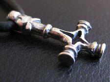 Wolfskreuz Thors Hammer 925 er Silber kleiner feiner Anhänger / KA 034