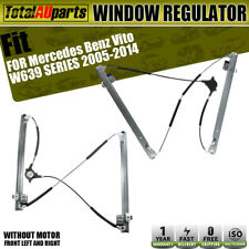 2x Power Window Regulator w/ Motor for Mercedes Benz Vito W639 2005-2014 Front
