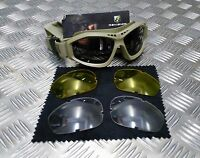 Genuine British Army Issue Revision Bullet Ant Ballistic Goggles. Coyote Tan NEW