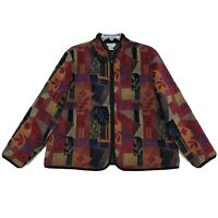 Coldwater Creek Jacket Womens 2X XXL Tapestry Front Zip Mandarin Collar