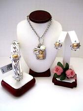 "Brighton ""AFFECTIONATE"" Long Necklace-Earring-Bracelet Set (MSR$218) NWT/Pouch"