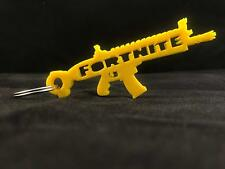 Fortnite Legendary Gold SCAR Rifle Keyring From Battle Royale