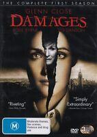 DAMAGES Complete TV First Season 1 Glenn CLOSE Rose BYRNE (3 DVD SET) NEW Reg 4