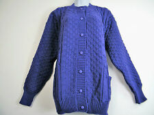 BUTTON UP 100% ACRYLIC KNITTED CARDIGAN WITH FRONT POCKETS 11 COLS TO FIT 14-20