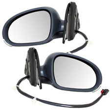 New Pair Power Side Mirrors Heated Signal Puddle Lamp for 05-10 VW Jetta Sedan