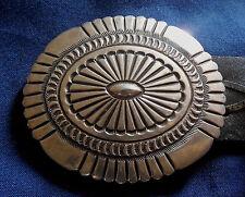 Vintage 11 Pcs Concho Belt Native American M Sterling Stamped Handmade