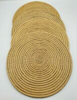 """Set of 4 Rattan Woven Placemats Charger Plates Hot Plates 11.5"""""""