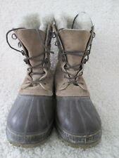 Sorel boots with felt liners mens/womens size 8 gently used condition LQQK!