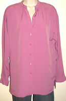 Ellen Tracy Women's Long Sleeve Button Down Silky Lavender Blouse Size Small NWT