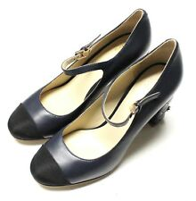 NIB - NINI SHARE COUTURE Women's 'QUILTED HEEL' Navy HIGH HEELS SANDALS - 38 B