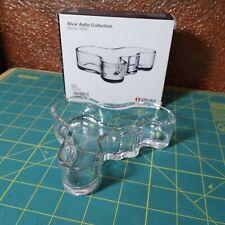 NIB RARE Iittala Alvar Aalto Malja Bowl vase Clear 40 x 136 mm Made in Finland