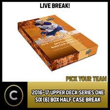 2016-17 UPPER DECK SERIES 1 - 6 BOX HALF CASE BREAK #H815 - PICK YOUR TEAM -