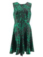 Pim + Larkin Women's Green Black Open Back Sleeveless Dress Size Medium