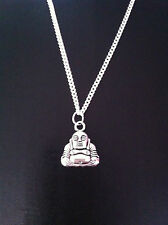 "BUDDHA CHARM NECKLACE 18"" SILVER CHAIN IN GIFT BAG"