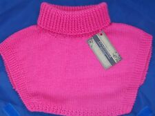 POLO TOP INSERT NECK WARMER - SPORT- CANDY PINK - HAND KNITTED - GOLF / OUTDOOR