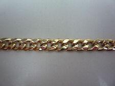 9ct or jaune bracelet à gros maillons 22cm 12grs fabriqué en italie evidés