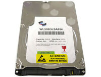 "New 500GB 5400RPM 8MB Cache SATA3.0Gb/s Slim 7mm 2.5"" Laptop Hard Drive (PS3 OK)"