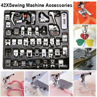 Babylock Singer CKPSMS Brand -#KP-19032 42PCS Domestic Sewing Machine Presser Feet Set with Plastic Storage Box for Brother 42PCS Janome and Kenmore Low Shank Sewing Machines