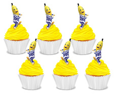 #517. Bananas in Pyjamas B1 & B2 EDIBLE wafer cupcake cake toppers STAND UP