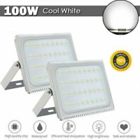 2x 100W Garden Yard Cool White LED Flood Light Outdoor Security Spotlight Lamp