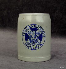 alte Bierkrug Krug Paulanerbräu Salvator München 0,25  Liter