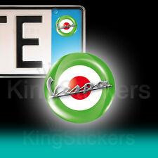 3 ADESIVI targa VESPA tricolore stickers auto moto scooter  italia piaggio